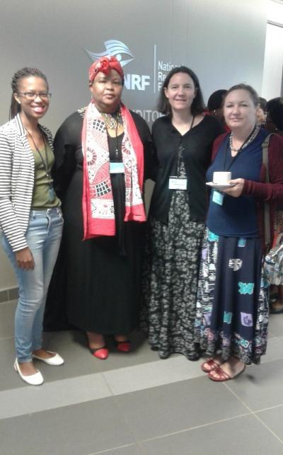 CHE staff members from left to right Ms Selina Mokatsane, Dr Phumzile Dlamini, Dr Genevieve Simpson and Dr Denyse Webbstock.